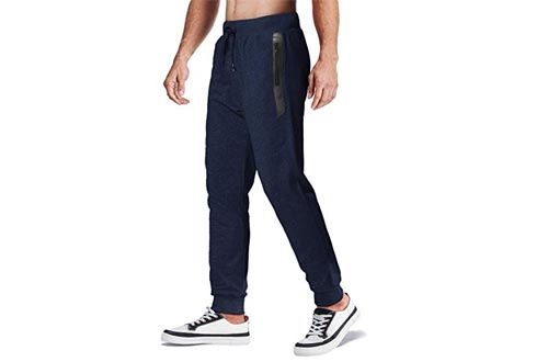 MAGCOMSEN Men's Jogger Pants Closed Bottom Running Sweatpants with Zipper Pockets for Workout, Jogging, Yoga Be the first to review this item